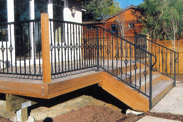 Wrought Iron Stair Railing - San Mateo