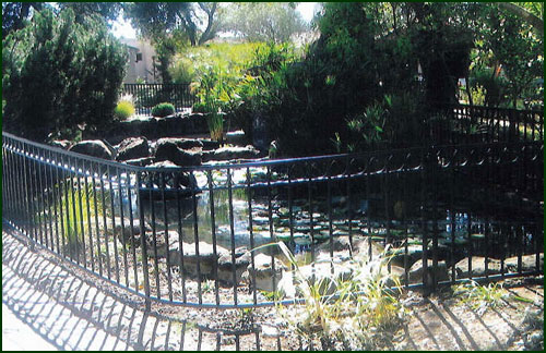 Wrought Iron Pool Fence - San Mateo County